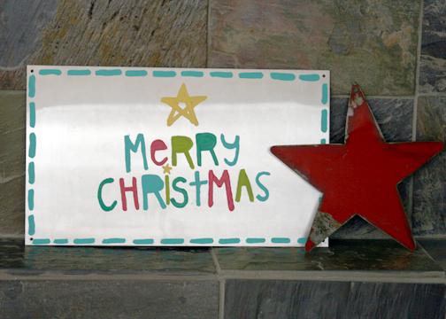 Merry christmas fireplace