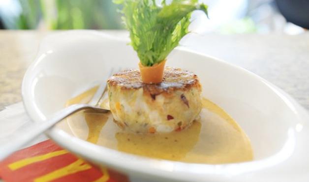 08-Seared-Pollock-Cake-with-Southwest-Ramalan-Sauce
