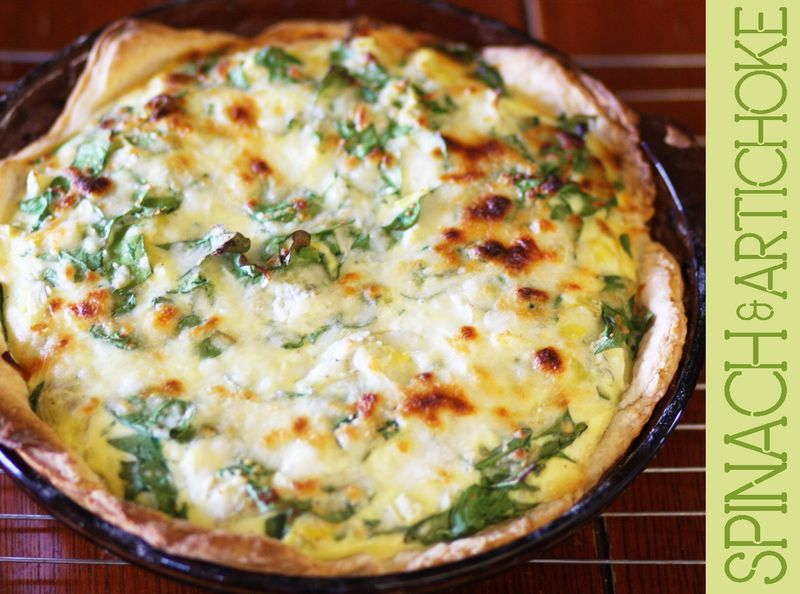Spinachandartichokequiche