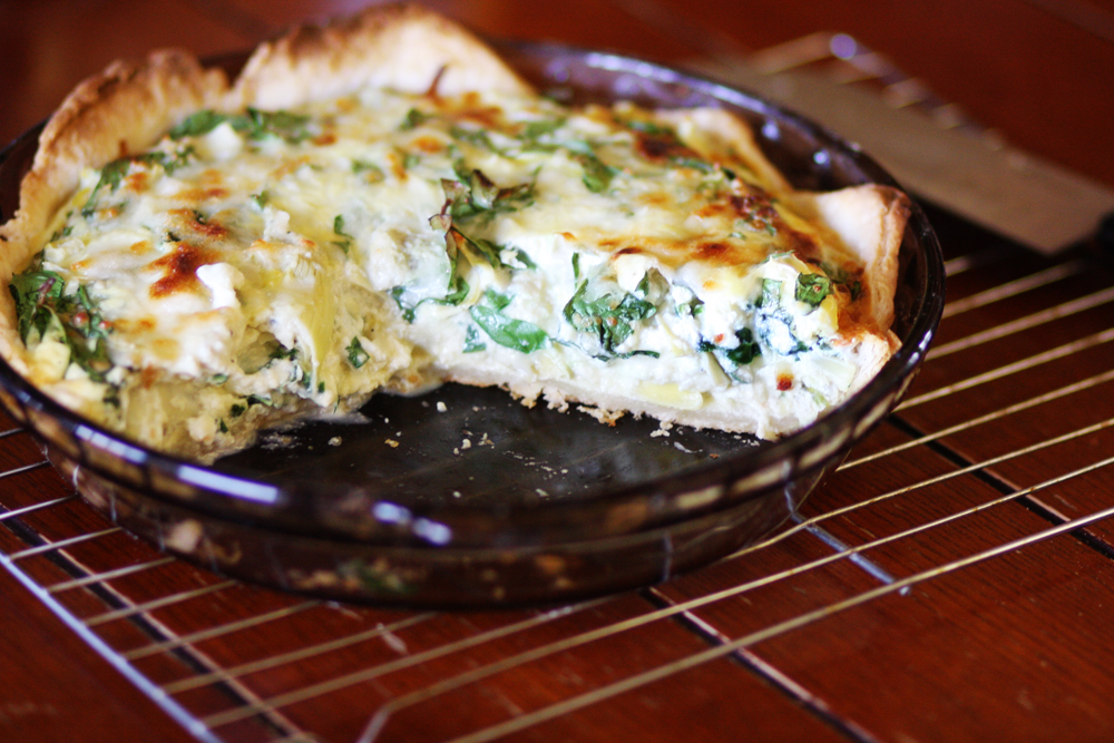 Spinach Artichoke Quiche Spinach And Artichoke Quiche